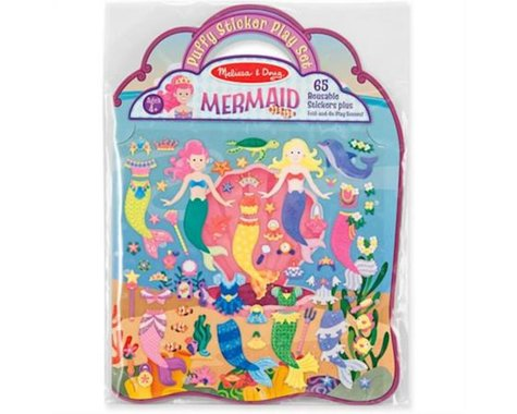 Melissa & Doug Reusable Puffy Stickers Mermaid