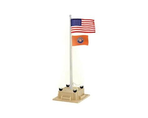 O Illuminated Flagpole w flag Plug-Expand-Play LNL