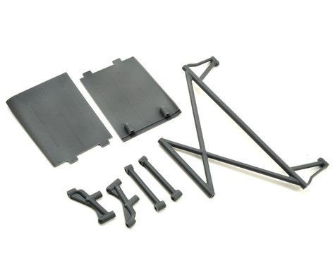 Losi Rock Rey Rear Tower Support & Mud Guards (Gray)
