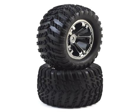Losi 12mm Hex TENACITY T Pre-Mounted Truck Tire (Black Chrome) (2)