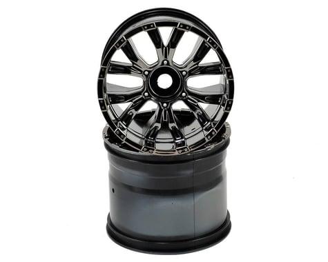 Losi 420S Force Wheel w/Cap (Black Chrome) (2)