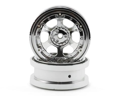 "Losi 2.2"" Beadlock Rock Crawler Wheels w/Rings (Chrome)"