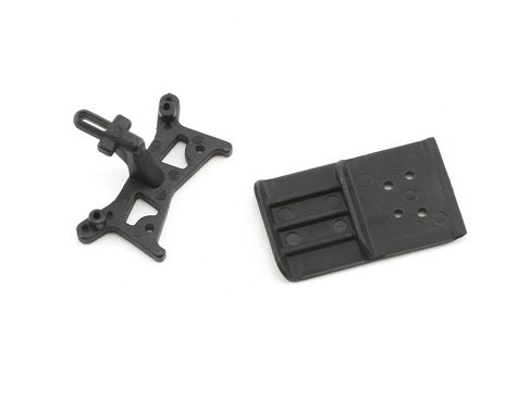 Losi Front Shock Tower/Skid Plate Bumper: Micro-DT