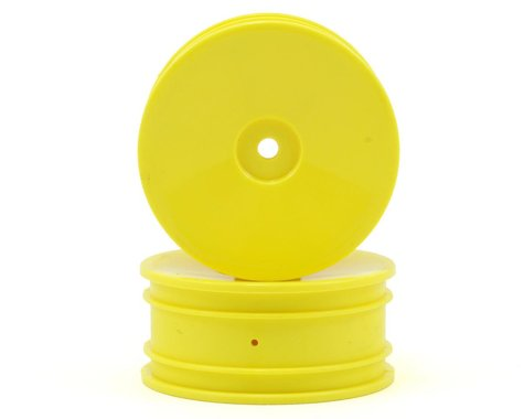 Losi Front Wheel Set (2) (Mini 8IGHT) (Yellow)