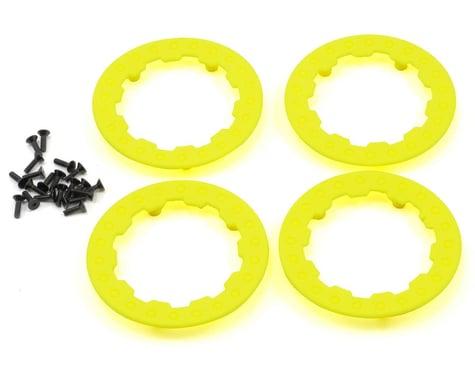 Losi Beadlock Ring Set w/Screws (Fluorescent Yellow) (4)