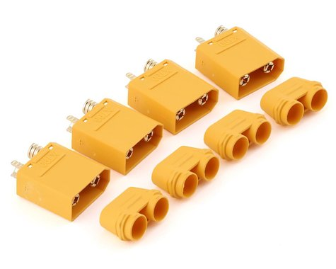 Maclan XT90 Male Connectors (4)