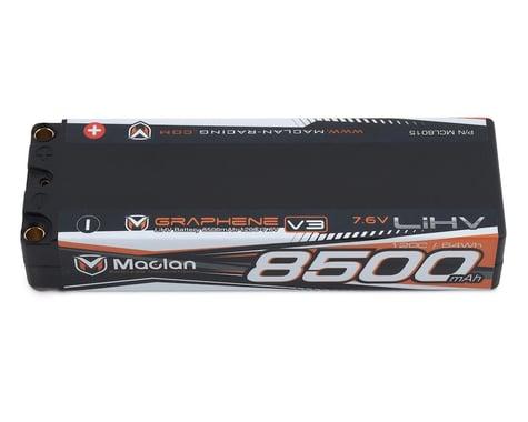 Maclan HV Graphene V3 2S LiPo Battery w/5mm Bullets (7.6V/8500mAh)