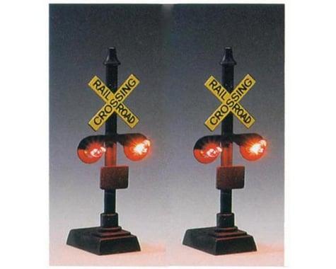 Model Power HO 2-Light Railroad Crossing Signals w/Relay (2)