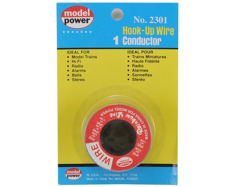 Model Power 1-Conductor Wire Roll (Red) (35')