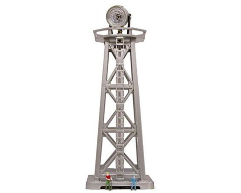 """Model Power N-Scale Built-Up """"Searchlight Tower"""" w/Figures (Lighted)"""