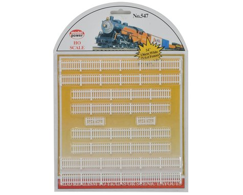 Model Power HO-Scale White Picket Fences (10)