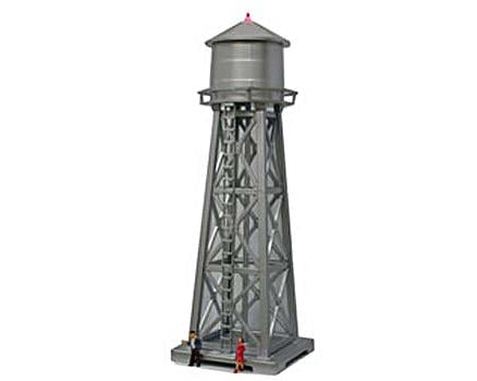 """Model Power HO-Scale Built-Up """"Water Tower"""" w/Figures (Lighted)"""