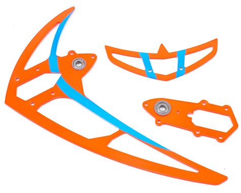 Mikado Tail Rotor Fin Set (Neon Red)