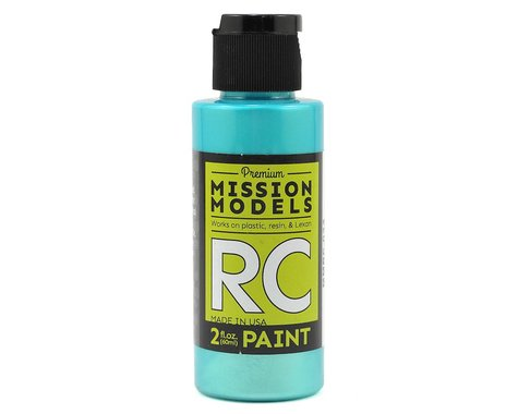 Mission Models Iridescent Teal Acrylic Lexan Body Paint (2oz)