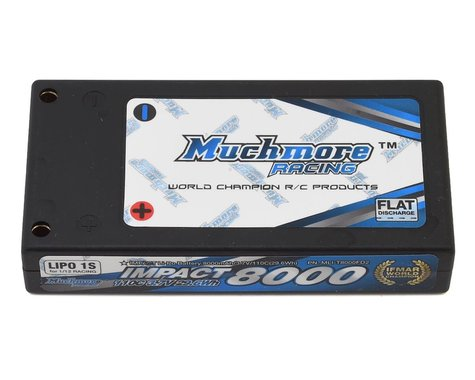 Muchmore Impact FD2 1S 1/12 LiPo Battery Pack 110C w/4mm Bullets (3.7V/8000mAh)