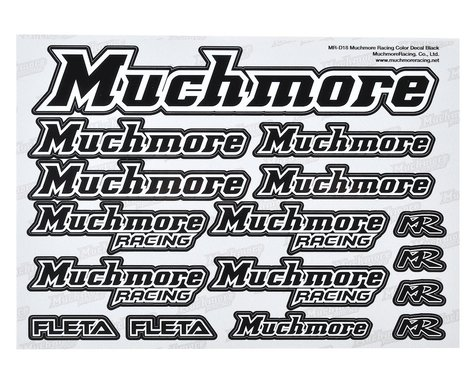Muchmore Decal Sheet (Black)