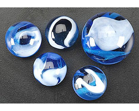 Mega Marbles  Blue Jay Marbles 24 + 1
