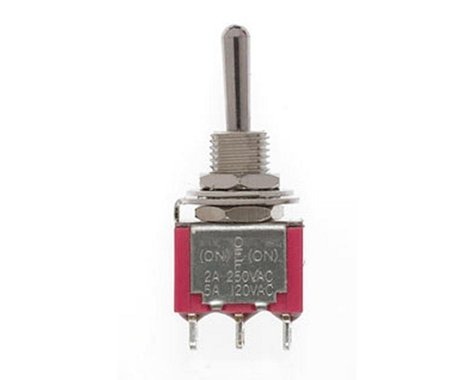SPDT Mini Toggle Switch, Sprung, 5A, 120V (2)