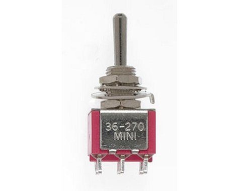 Miniatronics DPDT Mini Toggle Switch, Sprung 5A, 120V (2)