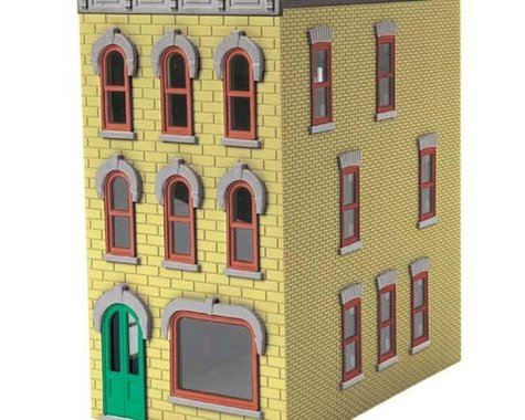 MTH Trains O 3-Story Town House #1, Yellow