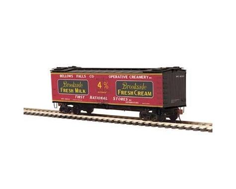 MTH Trains HO R40-2 Wood Reefer, Brookside Fresh Milk #1834