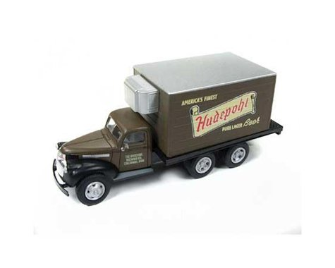 Classic Metal Works HO 1941-1946 Chevy Reefer Box Truck, Hudepohl Beer