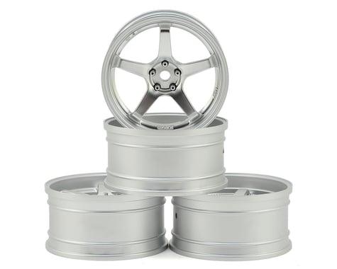 MST GT Wheel Set (Matte Silver/Matte Silver) (4) (Offset Changeable)