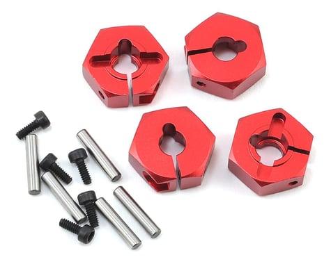 MST Alum. hex. wheel hubs 4mm (red) (4)