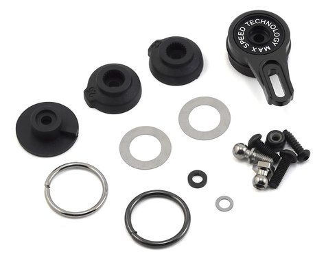 MST Aluminum 8-Point Adjustable Servo Saver (Black)