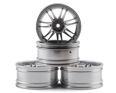 MST RE30 Wheel Set (Flat Silver) (4) (+10 Offset)