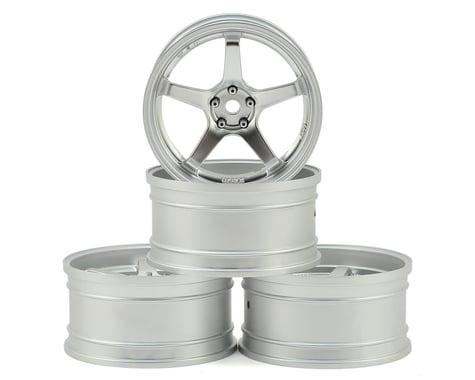 MST GT Wheel Set (Chrome/Matte Silver) (4) (Offset Changeable)