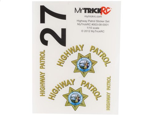 MyTrickRC CHP California Highway Patrol Decal Set