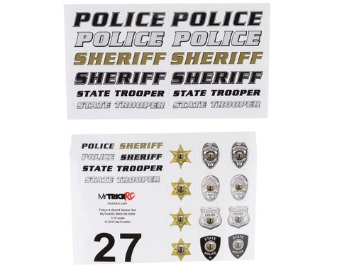 MyTrickRC Police/Sheriff Decal Set