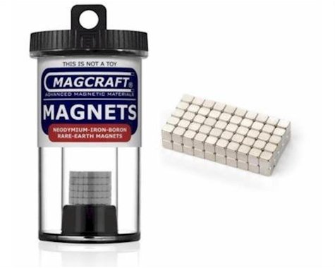 """National Imports  / Magcraft 1/8"""" Rare Earth Cube Magnets (100)"""
