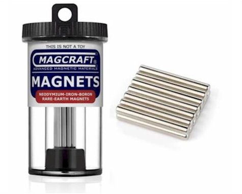 """National Imports  / Magcraft 1/8""""x1"""" Rare Earth Rod Magnets (14) (D)"""