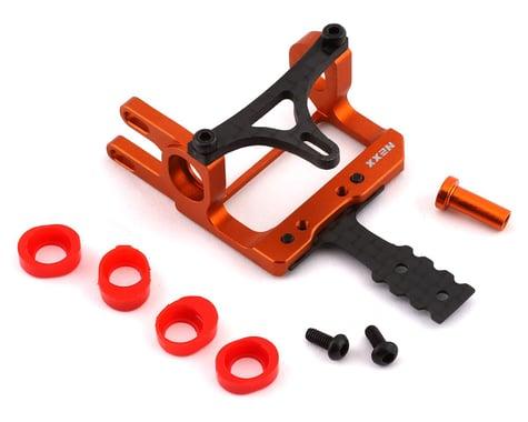 NEXX Racing Aluminum Round Motor Mount for 90-94mm RM (Orange)