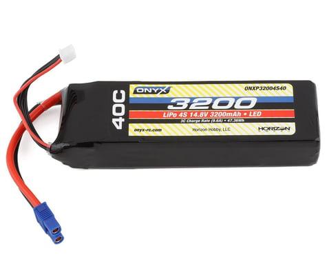 Onyx 3200mAh 4S 14.8V 40C LiPo EC3 LED Battery ONXP32004S40