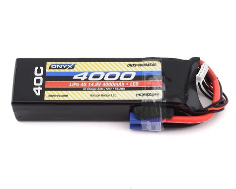 Onyx 4S 40C LiPo Battery w/EC5 & LED (14.8V/4000mAh)