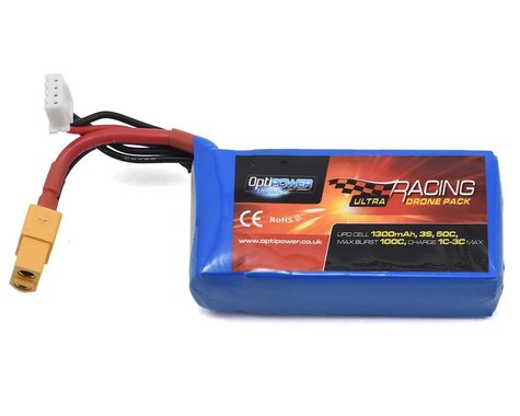 Optipower 3S 50C LiPo Battery (11.1V/1300mAh)