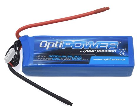 Optipower 6S 30C LiPo Battery (22.2V/3000mAh)