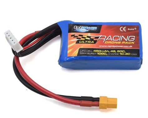 Optipower 4S 50C LiPo Battery (14.8V/450mAh)