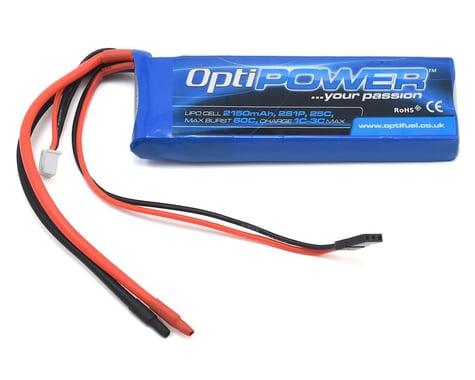 Optipower 2S 25C LiPo Receiver Battery Pack (7.4V/2150mAh)