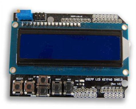 OSEPP 16X2 Lcd Display&Keypad Shield Arduino