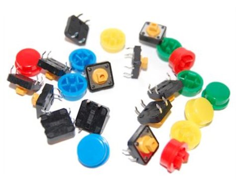 OSEPP Tactile Button Assortment 12 Pack