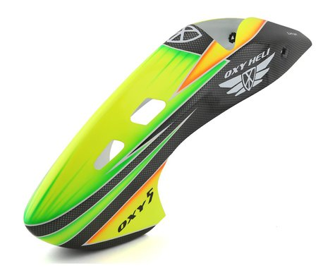 OXY Heli Oxy 5 Canopy (Scheme #8) (Yellow/Green/Carbon)