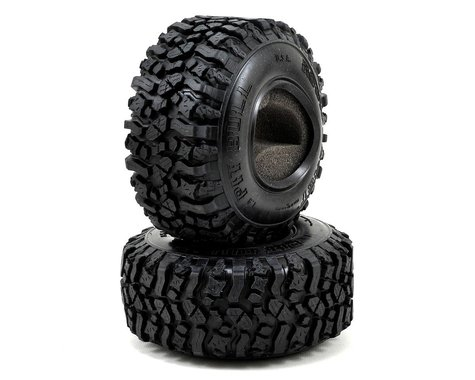 "Pit Bull Tires Rock Beast 1.9"" Scale Rock Crawler Tires w/2 Stage Foams (2) (Komp)"
