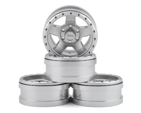 Pit Bull Tires Raceline Combat 1.9 Aluminum Beadlock Wheels (Silver) (4)