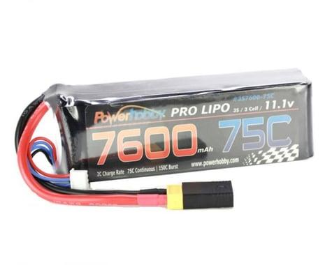 Power Hobby 7600mAh 11.1V 3S 75C LiPo Battery with XT60 PHB3S760075CXT60APT