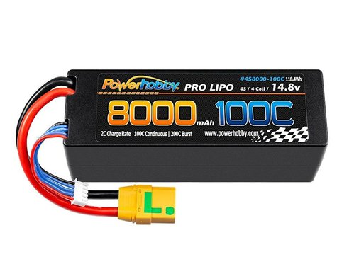 Powerhobby 4s 14.8V 8000MAH 100C Lipo Battery with XT90 Plug PHB4S8000100CXT90