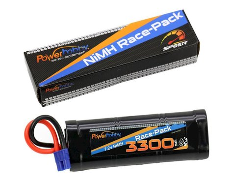 Power Hobby 7.2V 6-Cell 3300mAh NiMH Flat Battery Pack with EC3 Plug PHBPH1507